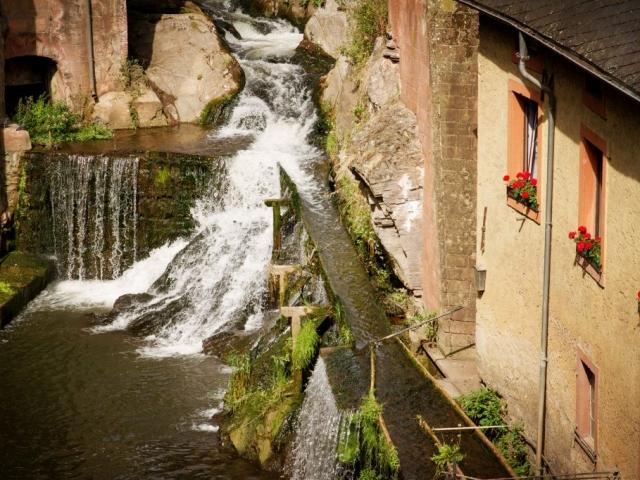 Wasserfall an der Leuk